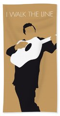 No010 My Johnny Cash Minimal Music Poster Beach Towel by Chungkong Art