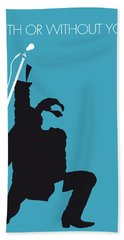 No035 My U2 Minimal Music Poster Beach Towel by Chungkong Art