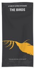 No110 My Birds Movie Poster Beach Towel by Chungkong Art