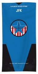No111 My Jfk Movie Poster Beach Towel by Chungkong Art