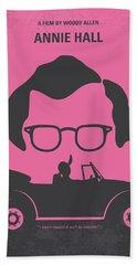 No147 My Annie Hall Minimal Movie Poster Beach Sheet by Chungkong Art