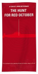 No198 My The Hunt For Red October Minimal Movie Poster Beach Towel by Chungkong Art