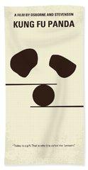 No227 My Kung Fu Panda Minimal Movie Poster Beach Sheet by Chungkong Art