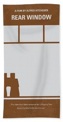 No238 My Rear Window Minimal Movie Poster Beach Towel by Chungkong Art