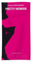 No307 My Pretty Woman Minimal Movie Poster Beach Towel by Chungkong Art