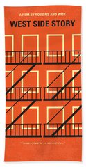 No387 My West Side Story Minimal Movie Poster Beach Towel by Chungkong Art