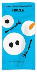 No396 My Frozen Minimal Movie Poster Beach Towel by Chungkong Art