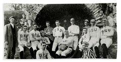 Ohio State Football Circa 1890 Beach Towel by Jon Neidert