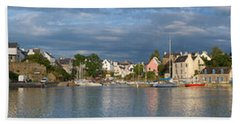 Old Bridge Over The Sea, Le Bono, Gulf Beach Towel by Panoramic Images