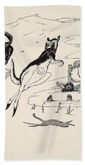 Old Man Kangaroo At Five Beach Towel by Rudyard Kipling