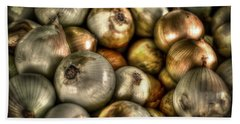 Onions Beach Towel by David Morefield