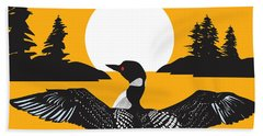 Orange Loon Beach Sheet by Derrick Higgins