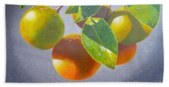 Oranges Beach Towel by Carey Chen