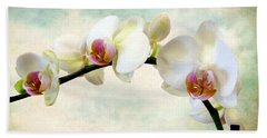 Orchid Heaven Beach Towel by Jessica Jenney