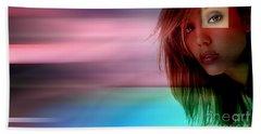 Original Jessica Alba Painting Beach Towel by Marvin Blaine