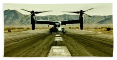 Osprey Takeoff Beach Towel by Benjamin Yeager