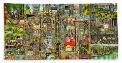Our Town Beach Towel by Colin Thompson
