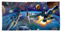 Outer Space Beach Towel by Adrian Chesterman