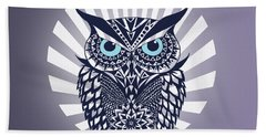Owl Beach Towel by Mark Ashkenazi