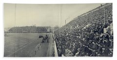 Panoramic Photo Of Harvard  Dartmouth Football Game Beach Sheet by Edward Fielding