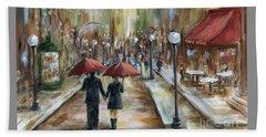 Paris Lovers Ill Beach Towel by Marilyn Dunlap