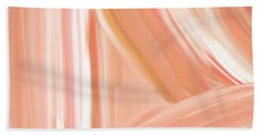 Peach Accent Beach Sheet by Lourry Legarde