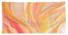 Peach Flare Beach Towel by Lourry Legarde