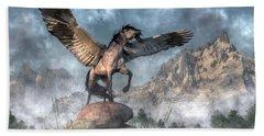 Pegasus Beach Towel by Daniel Eskridge