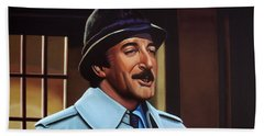 Peter Sellers As Inspector Clouseau  Beach Sheet by Paul Meijering