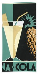 Pina Colada Beach Towel by Brian James