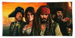 Pirates Of The Caribbean  Beach Towel by Paul Meijering