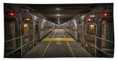 Platform Eight At Union Station Beach Sheet by Adam Romanowicz
