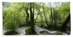 Beach Towel featuring the photograph Plitvice Lakes by Travel Pics
