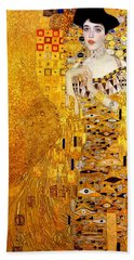 Portrait Of Adele Bloch-bauer Beach Towel by Gustav Klimt