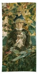 Portrait Of Adele Tapie De Celeyran Beach Sheet by Henri de Toulouse-Lautrec