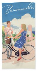 Poster Advertising Bermuda Beach Sheet by Adolph Treidler