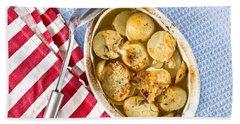 Potato Dish Beach Towel by Tom Gowanlock