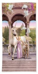 Princess Of The Unicorns Variant 1 Beach Sheet by Garry Walton