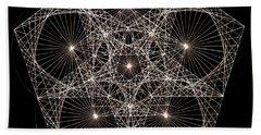 Quantum Star II Beach Sheet by Jason Padgett