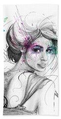 Queen Of Butterflies Beach Sheet by Olga Shvartsur