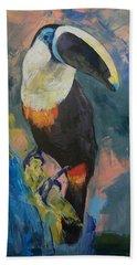 Rainforest Toucan Beach Sheet by Michael Creese