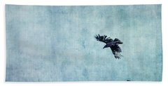 Ravens Flight Beach Sheet by Priska Wettstein
