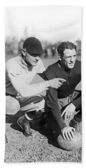 Red Grange And His Coach Beach Sheet by Underwood Archives