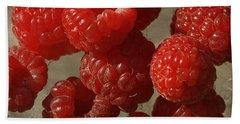 Red Raspberries Beach Towel by Cindi Ressler