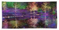 Reflections In Technicolor Beach Towel by Suzanne Stout