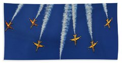Beach Towel featuring the photograph Republic Of Korea Air Force Black Eagles by Science Source