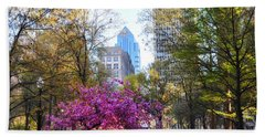 Rittenhouse Square In Springtime Beach Sheet by Bill Cannon
