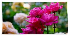 Rittenhouse Square Roses Beach Towel by Rona Black