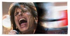 Rock N Roll Steven Tyler Beach Sheet by Marvin Blaine