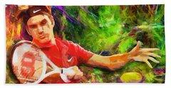 Roger Federer Beach Sheet by RochVanh